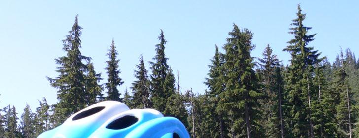 Willamette Pass - Helmet on Car