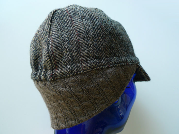 Three Panel Cap Example - With Earflap