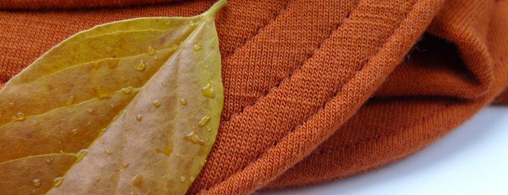 orange wool knit cycling cap