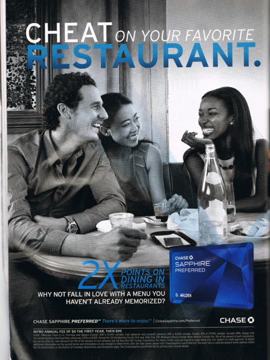 Chase - Cheat on Your Favorite Restaurant
