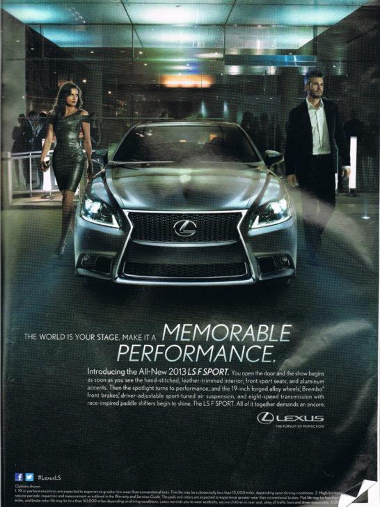 Lexus Memorable Performance Ad