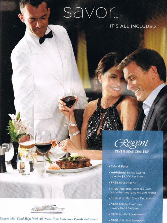 Regent Cruise Ad