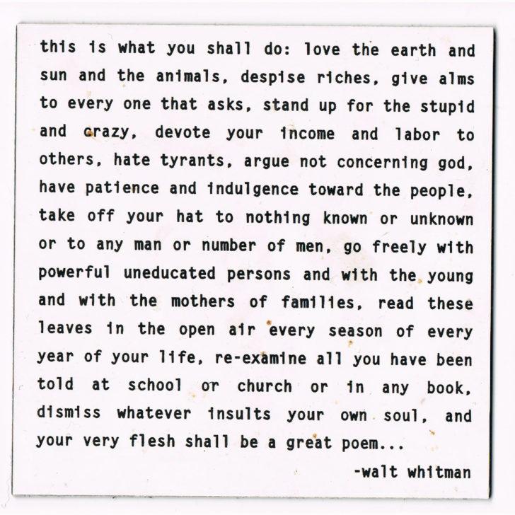 Walt Whitman Quotable Magnet