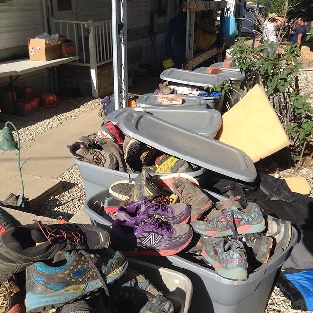 shoes at hiker heaven / saufleys