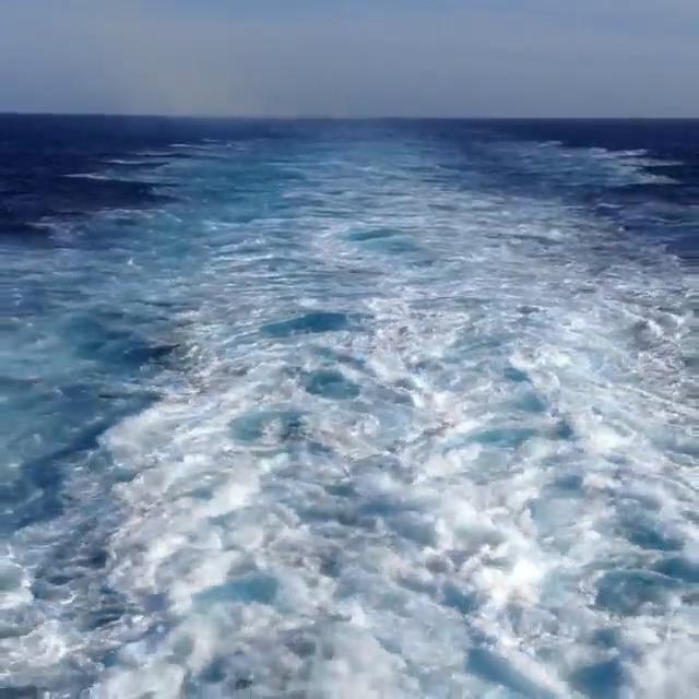 large boat wake