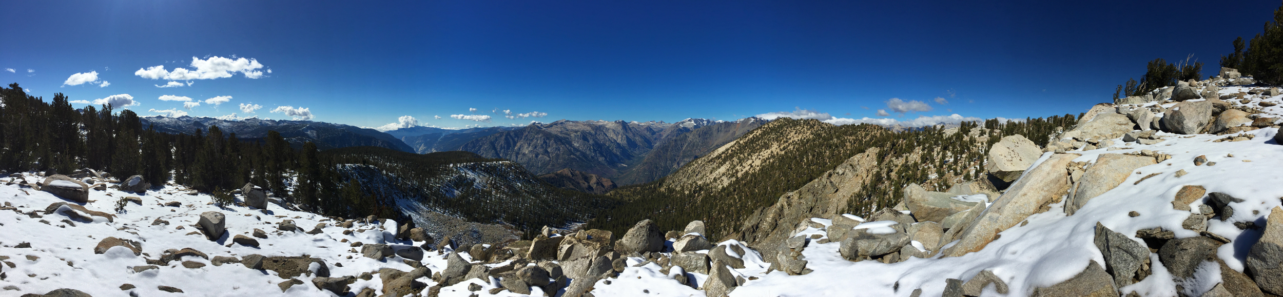 It was hard not to stop every three seconds to photograph while climbing up Windy Ridge. This panorama explains why.