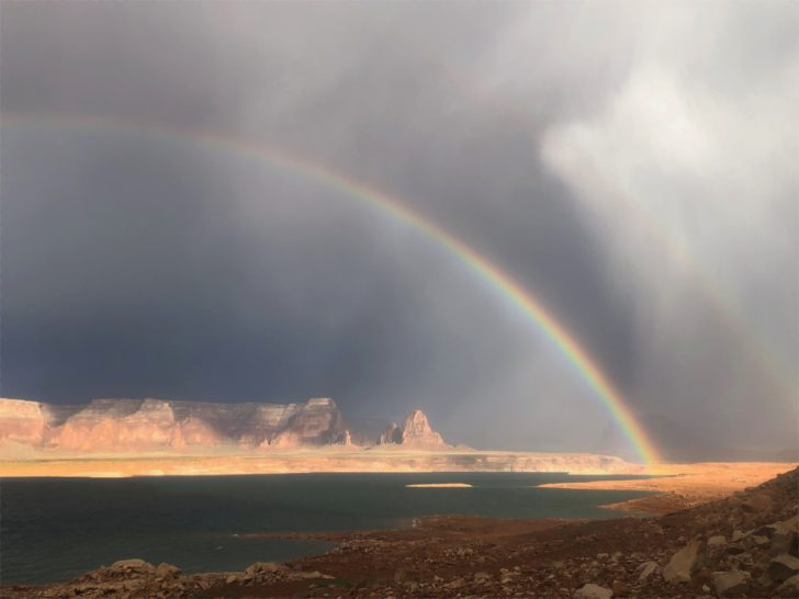 double rainbow over Lake Powell