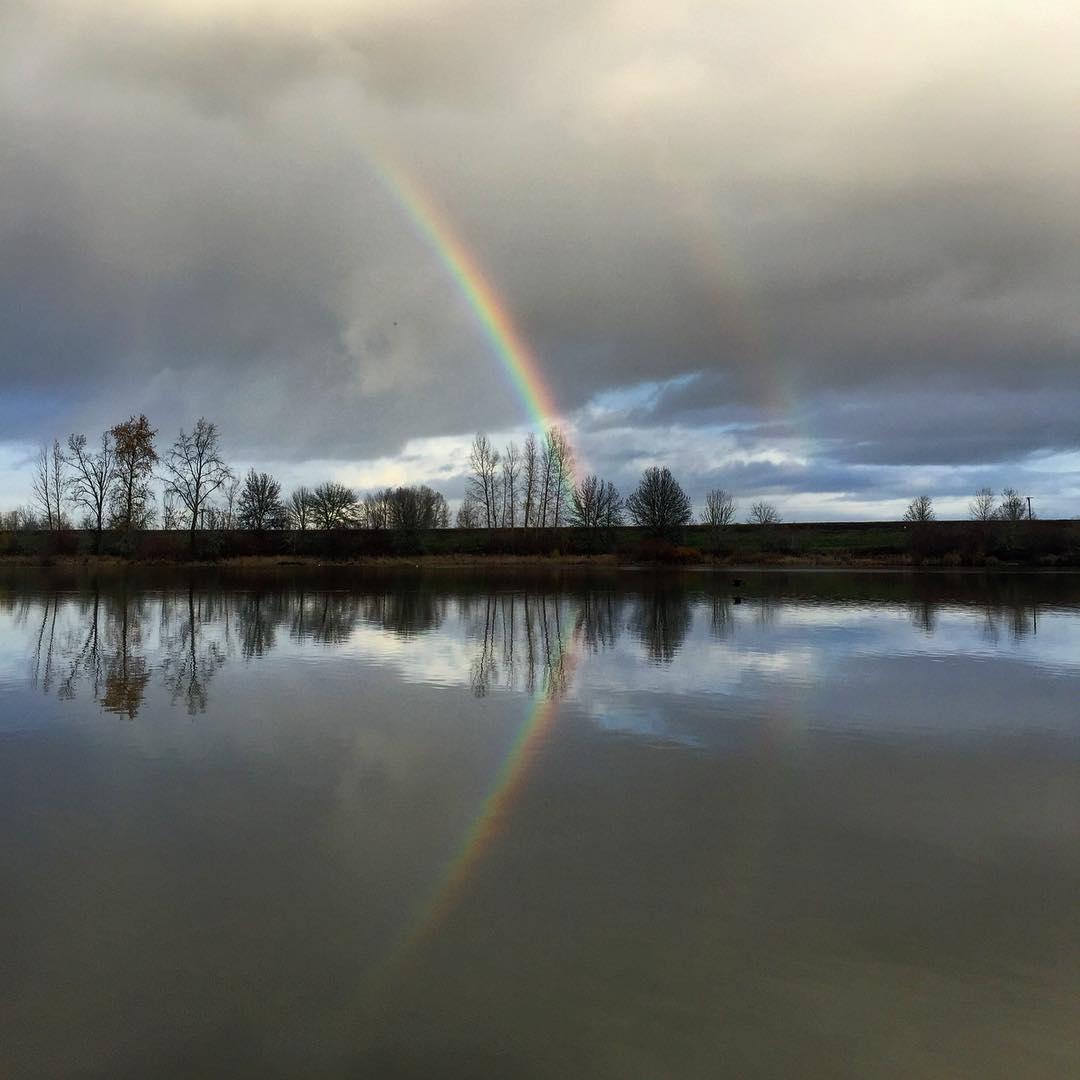 double rainbow near portland