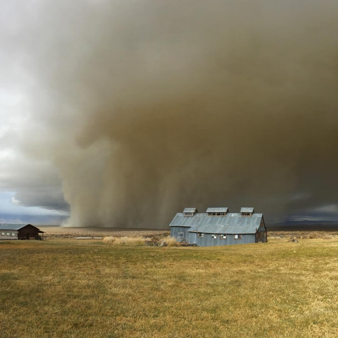 Dry Lake Sand Storm