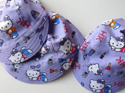 Hello Kitty cycling caps