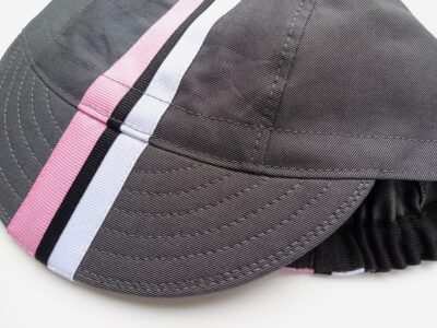 Soft-billed cycling cap with detailed ribbon work