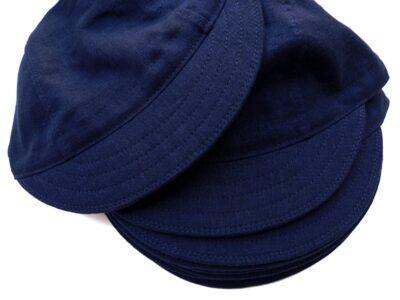 Blue Linen Cycling Caps