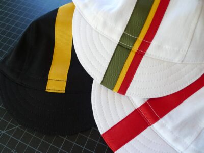 Three Cycling Caps with Custom Ribbon