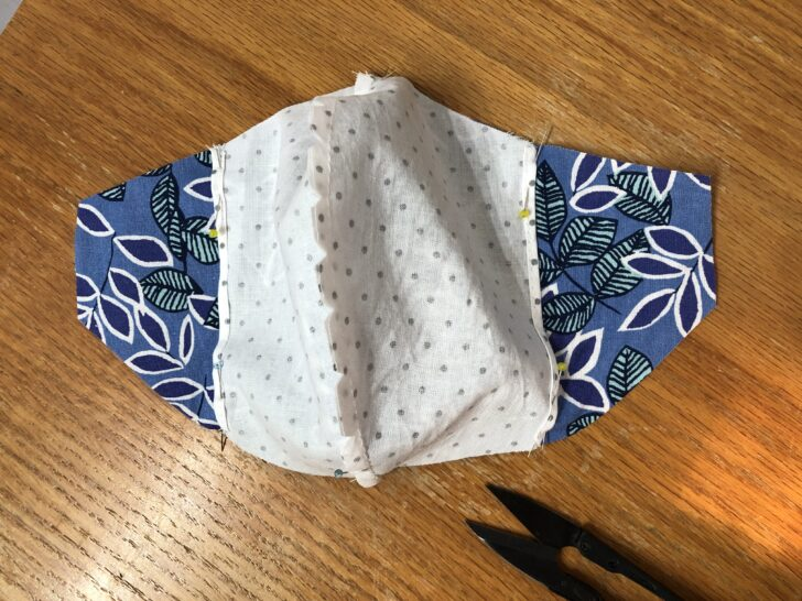 Face mask inner and outer pinned