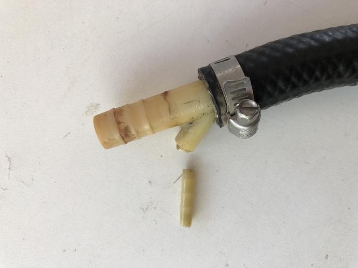 Vanagon Transporter plastic part 251611755, shown broken